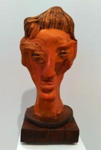 Escultura Cabeza de Guanche feliz