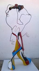 Escultura Je suis le chansonnier