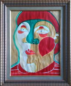 Pintura Payaso retrato